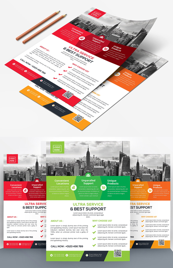 Corporative Flyers Template Design