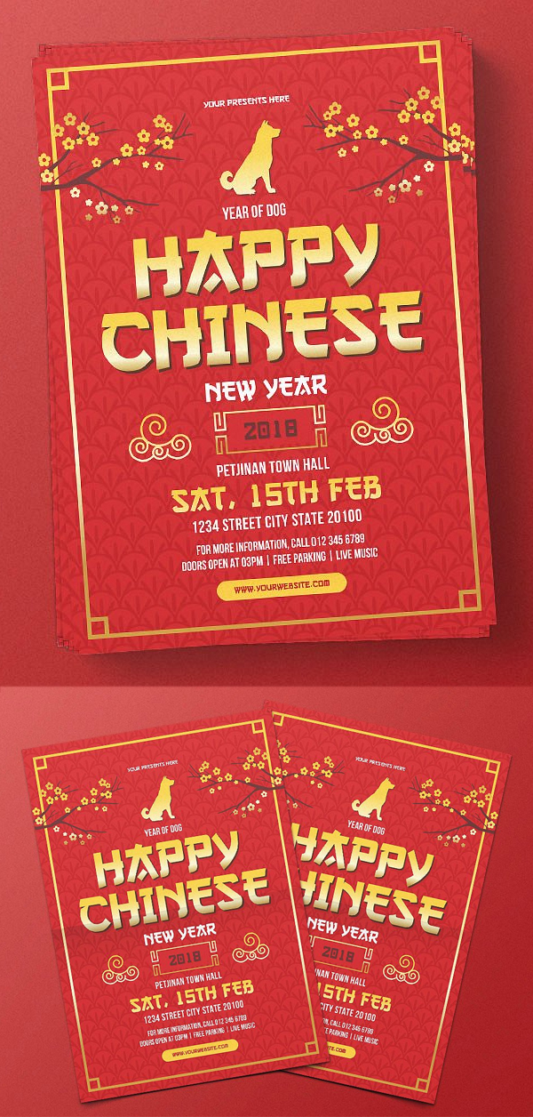 Chinese New Year Flyer Design