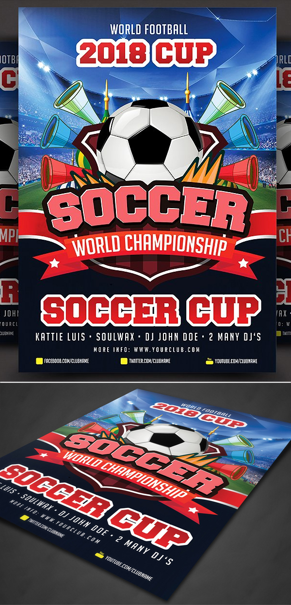 Soccer Cup Poster Template