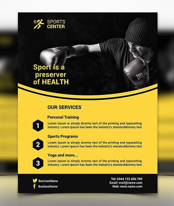 Sport Flyer Template Design