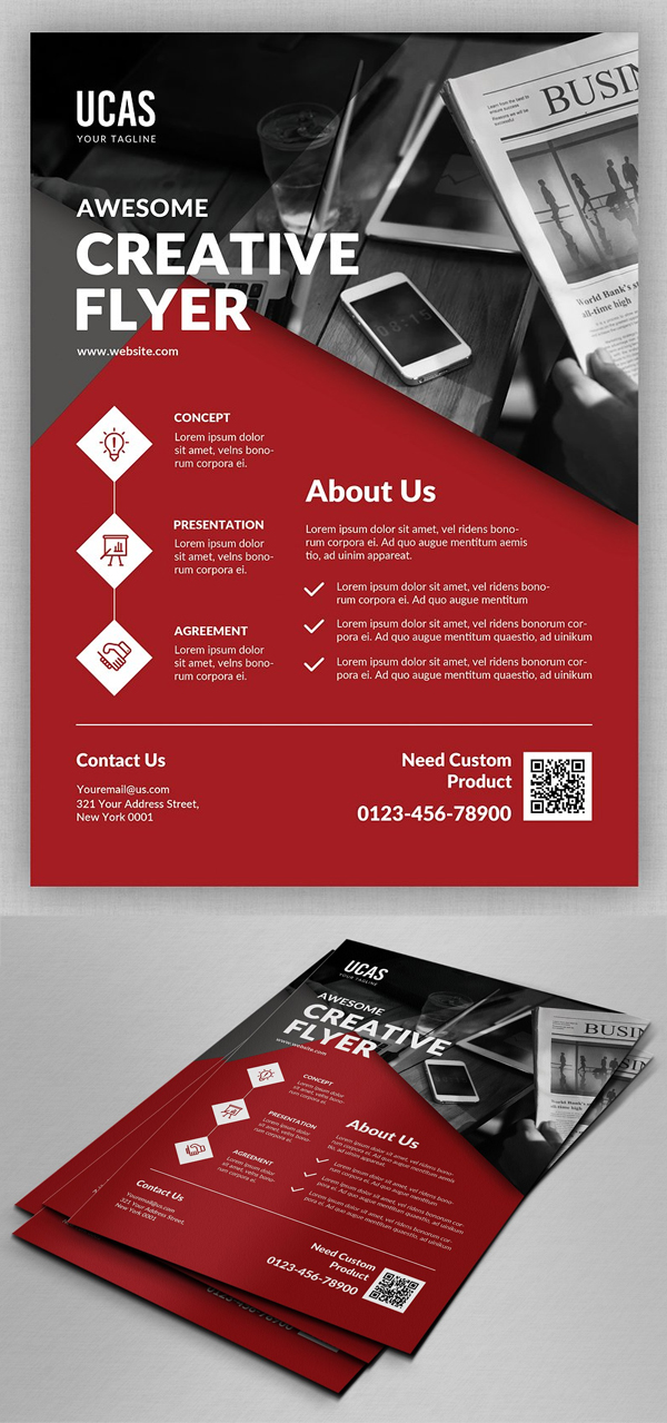 Creative Business Flyer Template Design
