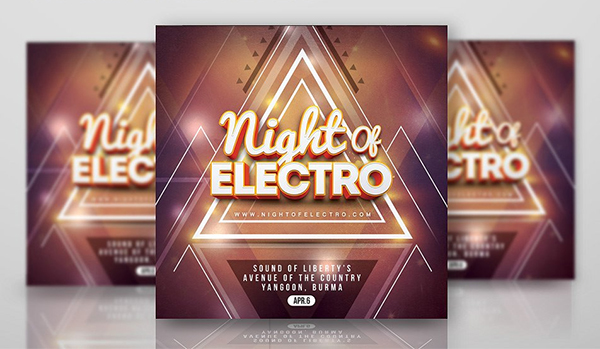 Night Of Electro Flyer Template