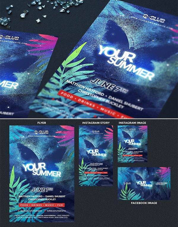 Cool Party Flyer Template