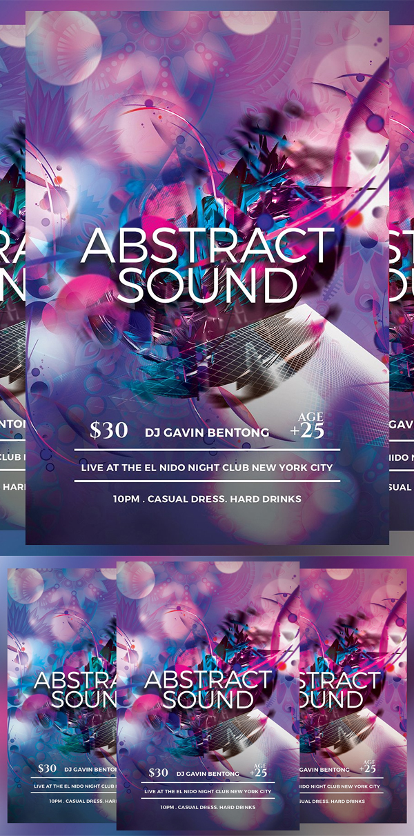 Abstract Sound Flyer