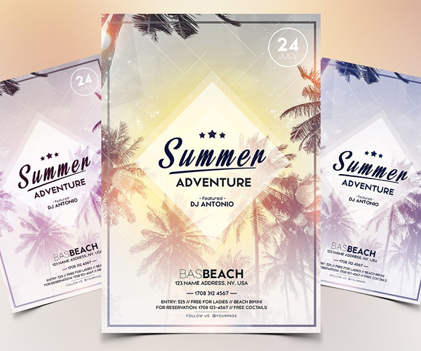 Awesome Collection Of Fresh Flyer Templates Design Advertising