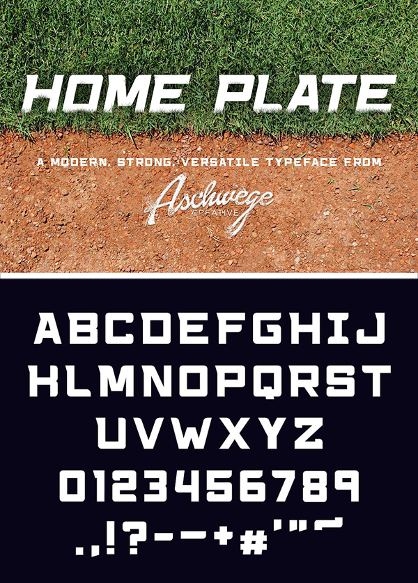 Home Plate Font