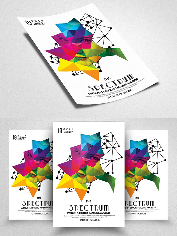 Double Exposure Futuristic Flyer Template