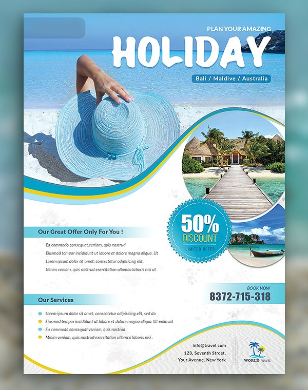 Holiday Travel & Vacation Flyer Template