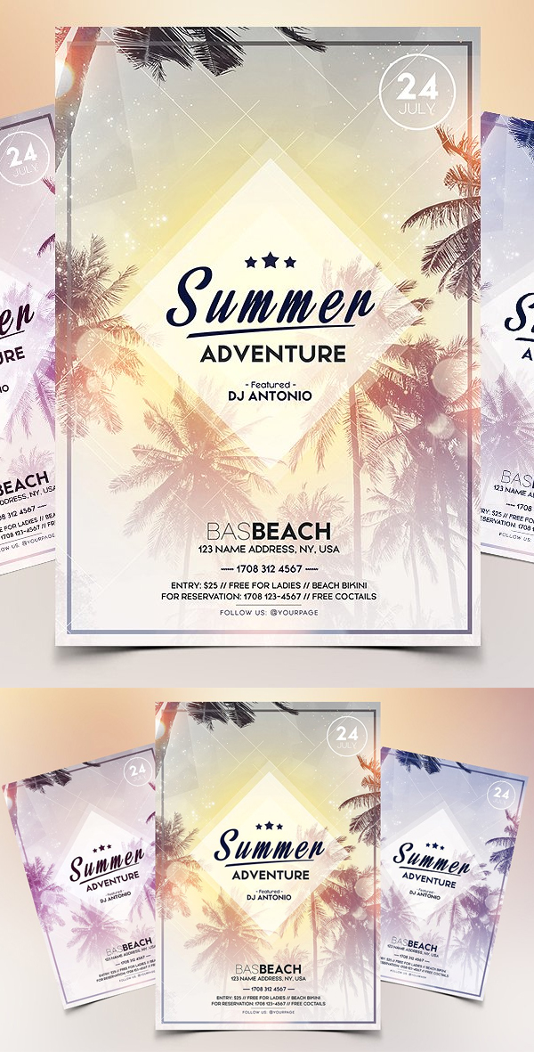 Summer Adventure - PSD Flyer