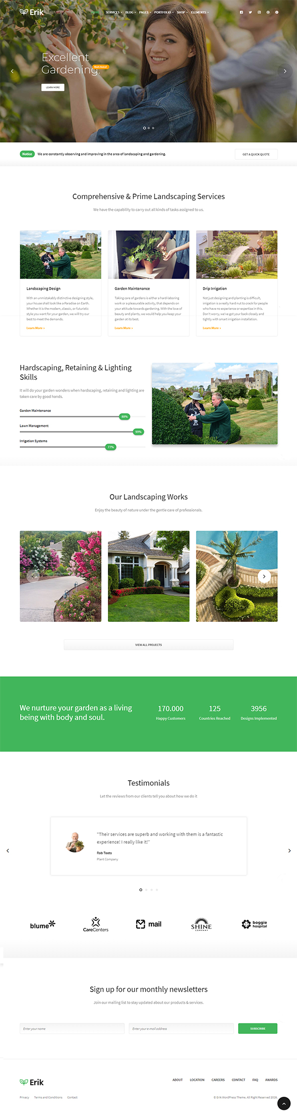 Erik - Refined WordPress Theme for Gardening & Landscaping