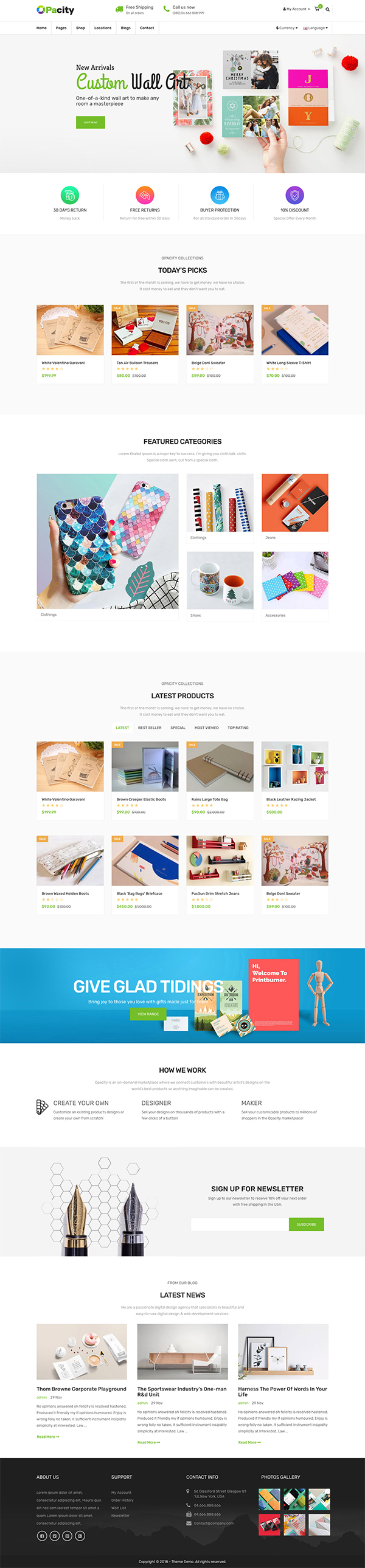 Advanced Multipurposes Opencart Theme