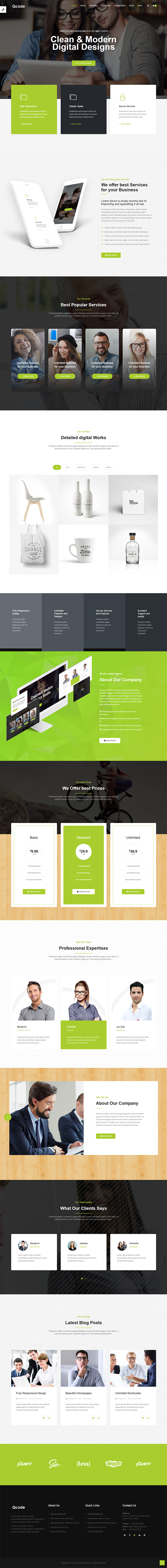 Responsive MultiPurpose HTML5 Template | Business