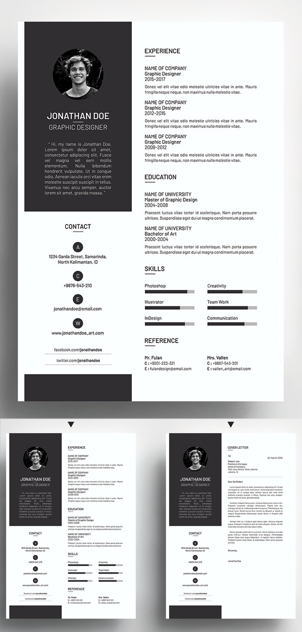Clean & Simple Resume CV Template