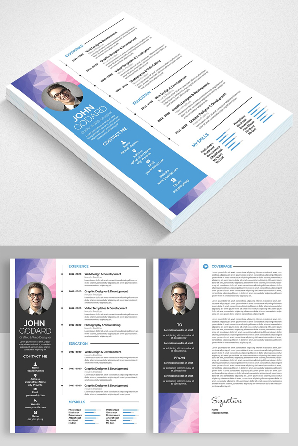 Creative Resume CV Set