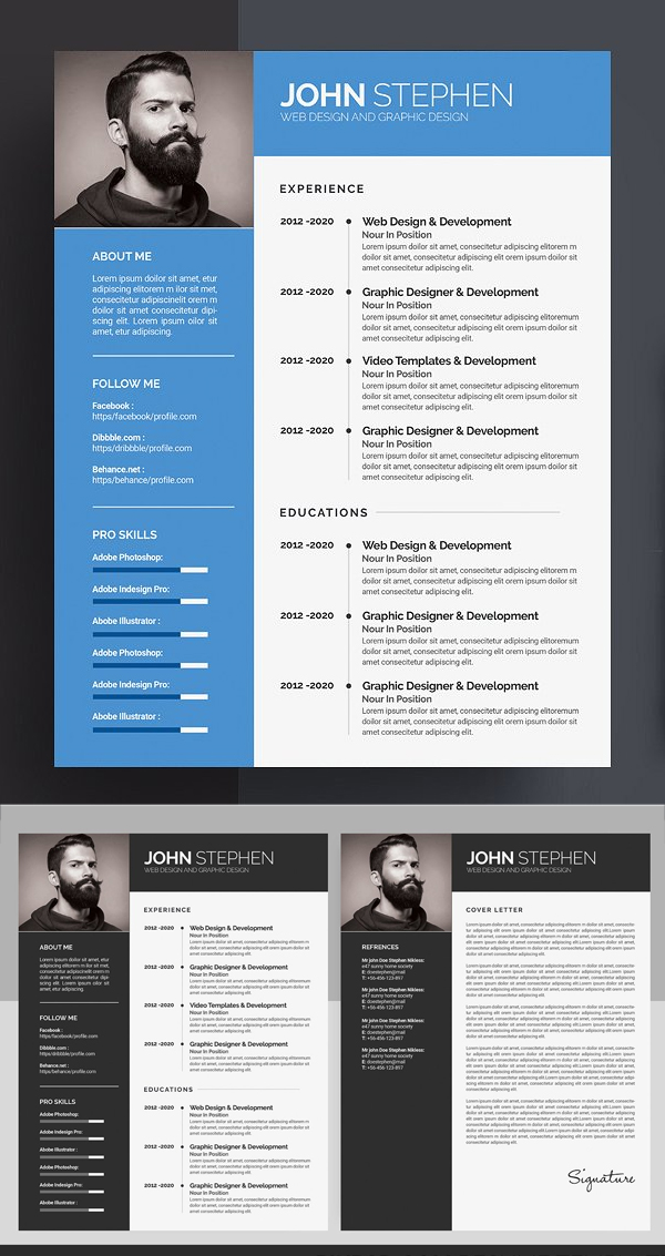 Creative & Professional Resume / CV Template