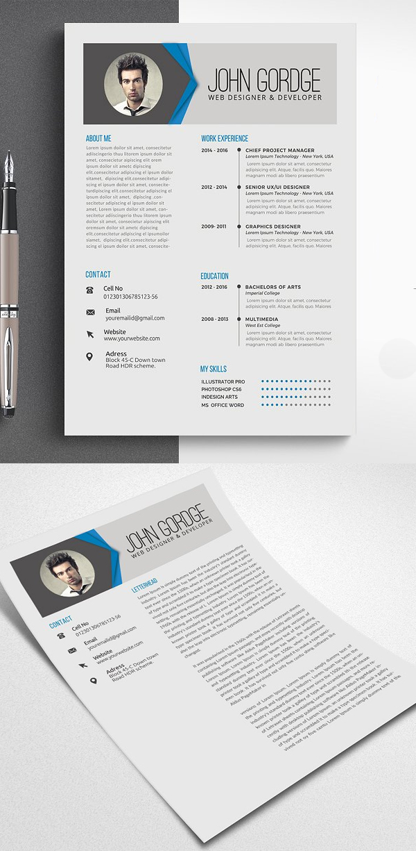 Elegant Job CV Resume
