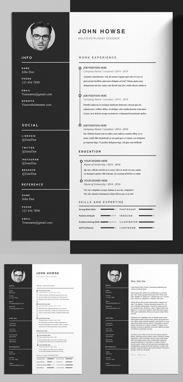 Elegant And Professional Resume / CV Template