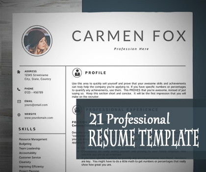 Post thumbnail of 21 Fresh & Professional Resume / CV Templates To Get Your Dream Job