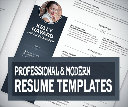 Post thumbnail of 22 Professional & Modern Resume / CV Temlates