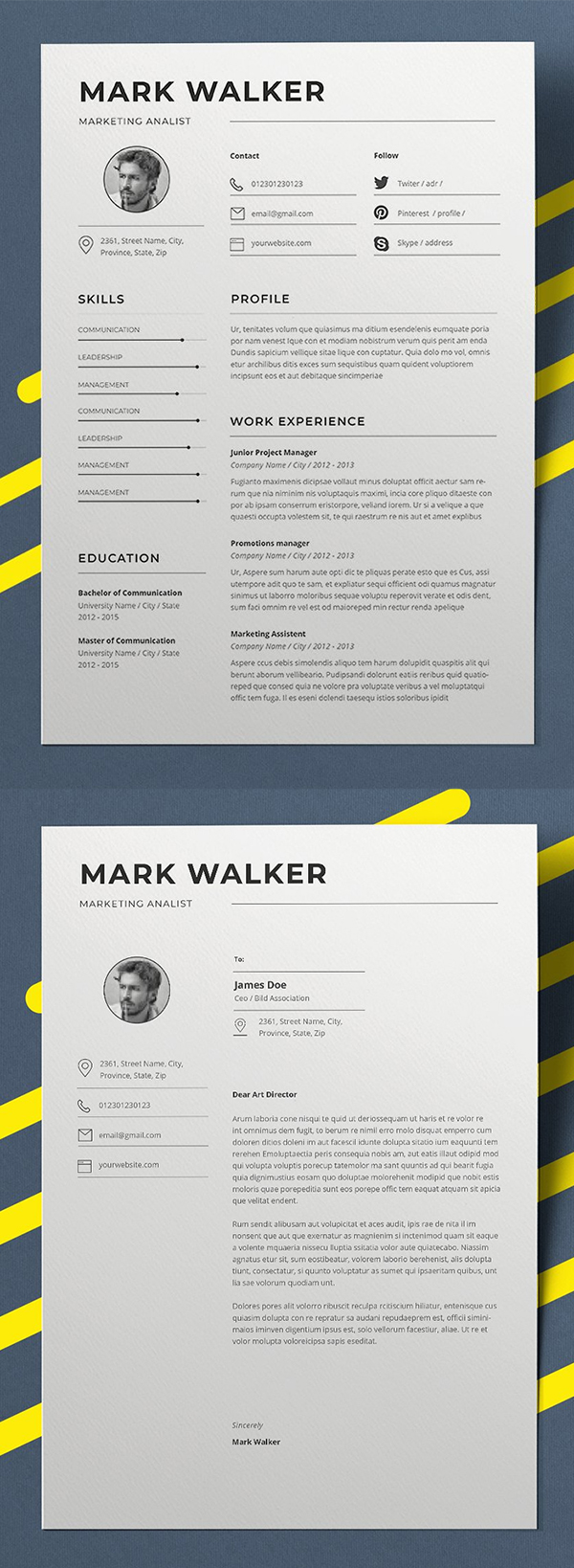 20 professional  u0026 creative resume    cv templates