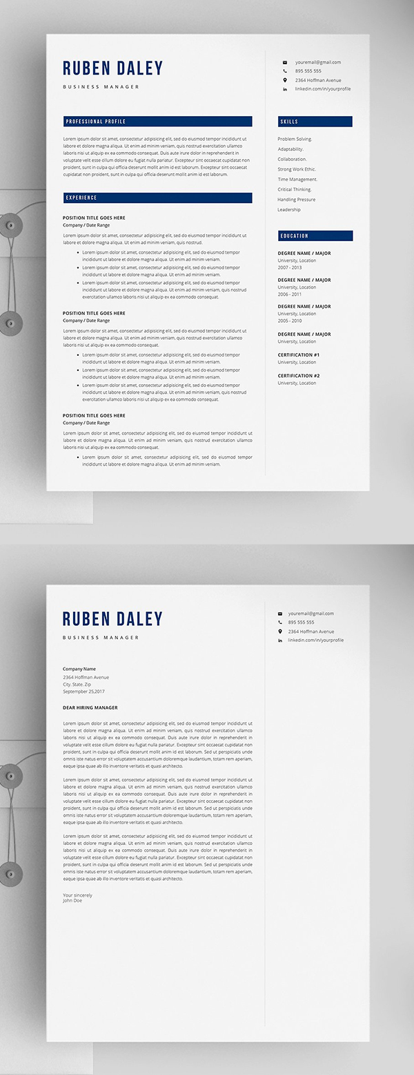 Creative And Unique Resume Template