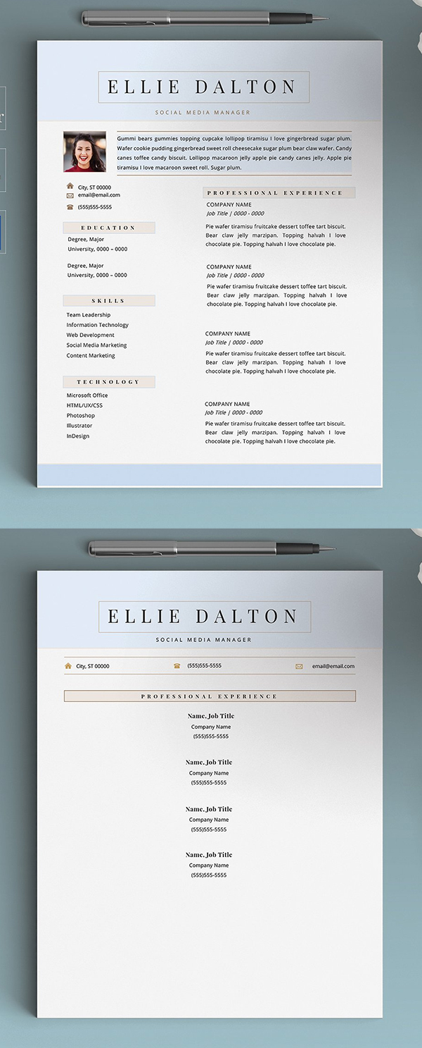 Modern Creative Resume / CV Template