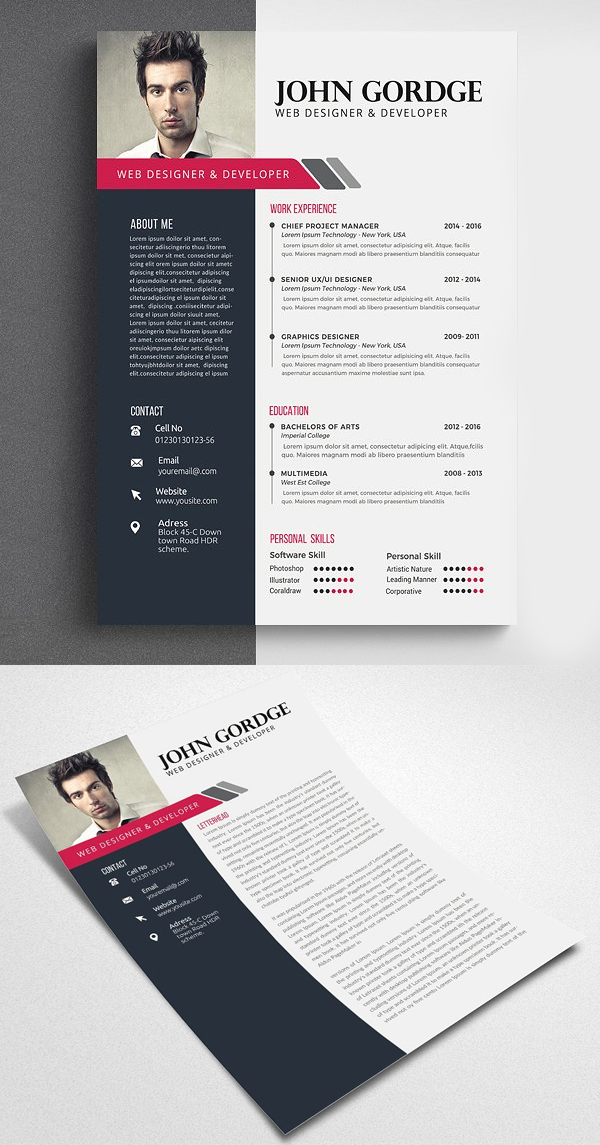 Professional and Clean Resume CV template