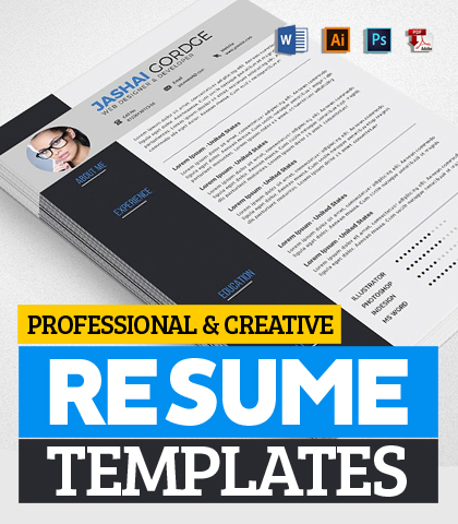 20 Professional & Creative Resume / CV Templates