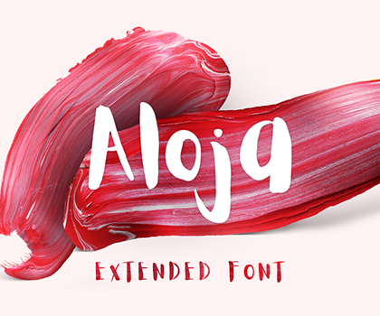 Post thumbnail of Awesome Aloja Brush Font For Designers