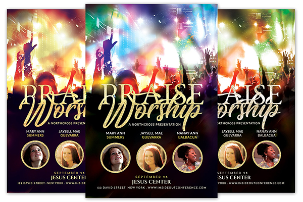 Praise Worship Church Flyer