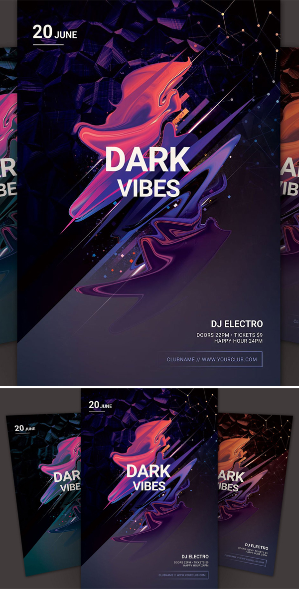 Dark Vibes Flyer Template