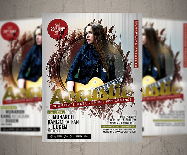 Acoustic Flyer / Poster Design