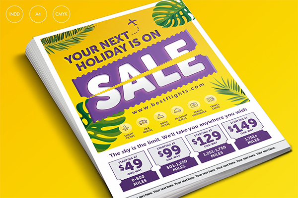 Tropical Summer Holiday Sale Flyer