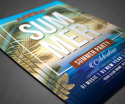 Latest & Awesome Summer Flyer Templates Designs