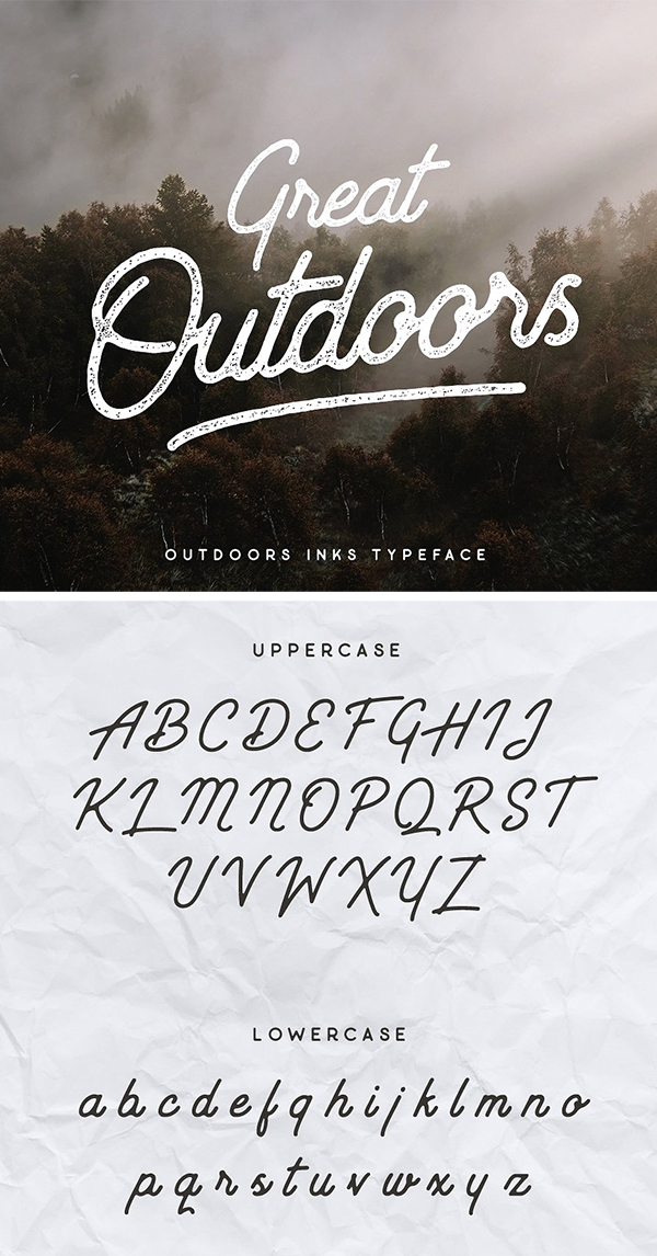 Outdoors Inks Typeface