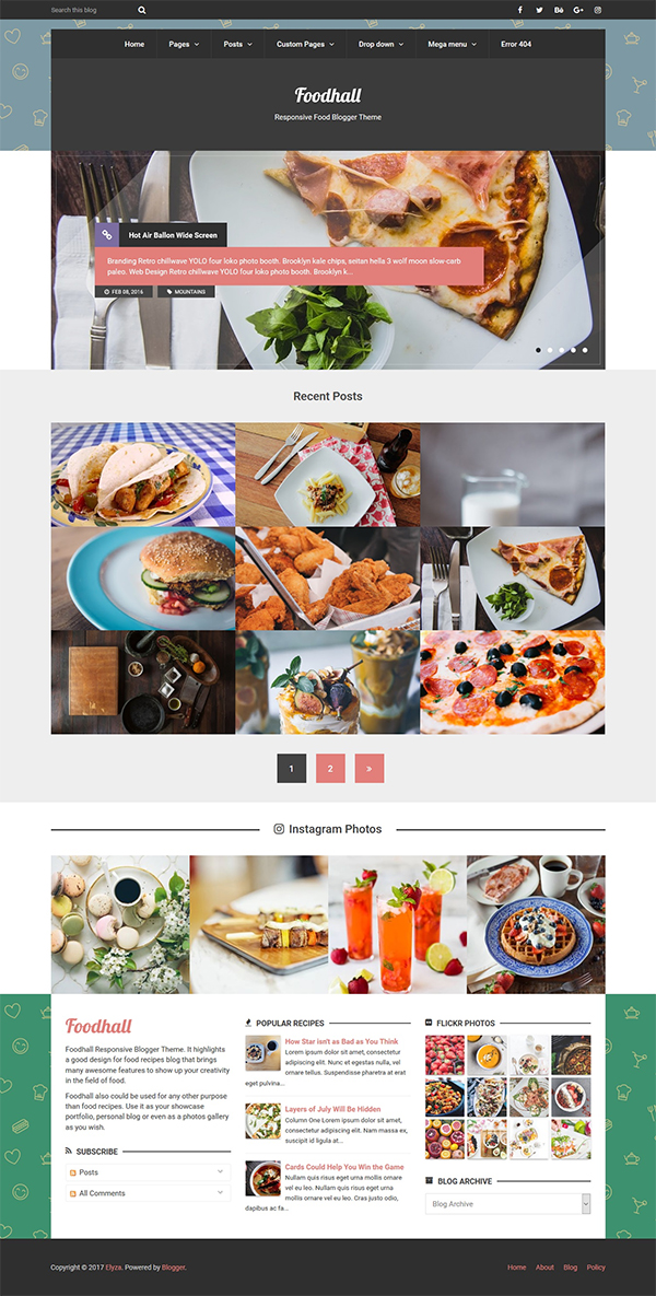 Foodhall Responsive Food Blogger Theme