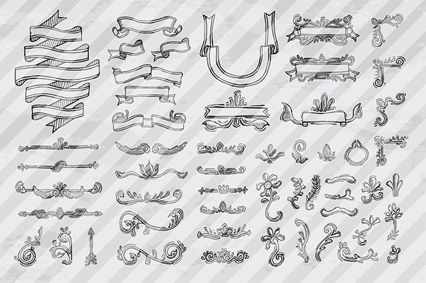 Creative Hand Drawn vector Elements
