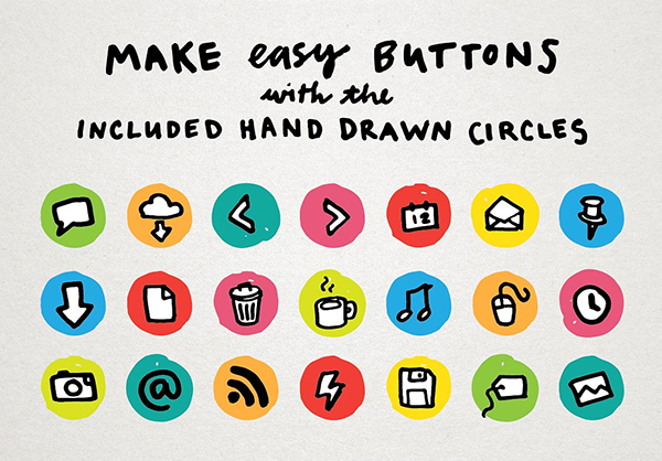 Creative Hand Drawn Marker Icons