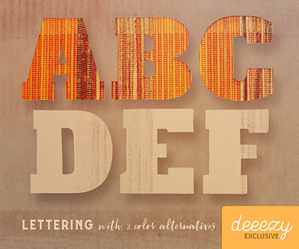 Free Creative Lettering With Amazing Backgrounds For Designers