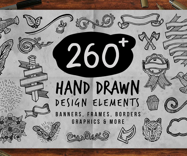 creative+hand+drawn+elements
