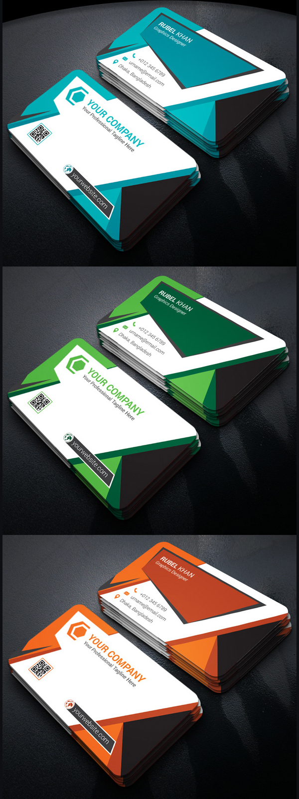 Corporate Business Card Print Ready Free