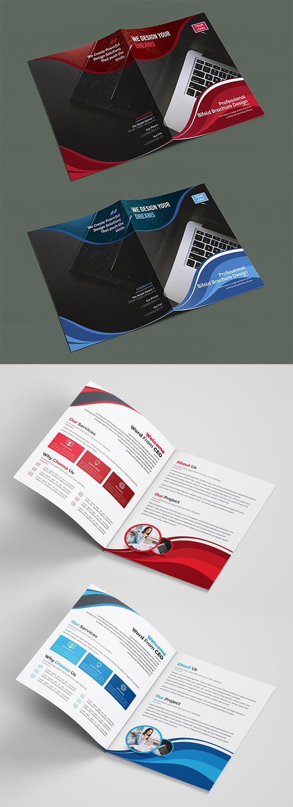 Simple Bifold Brochure Template