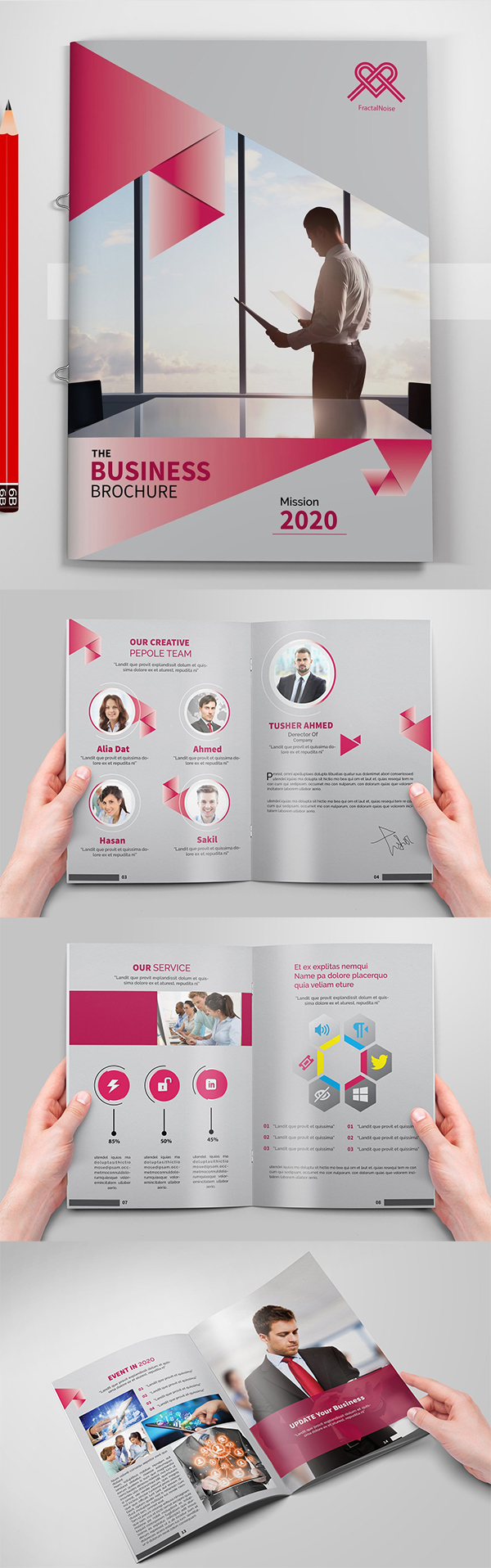 Business Brochures Template Design