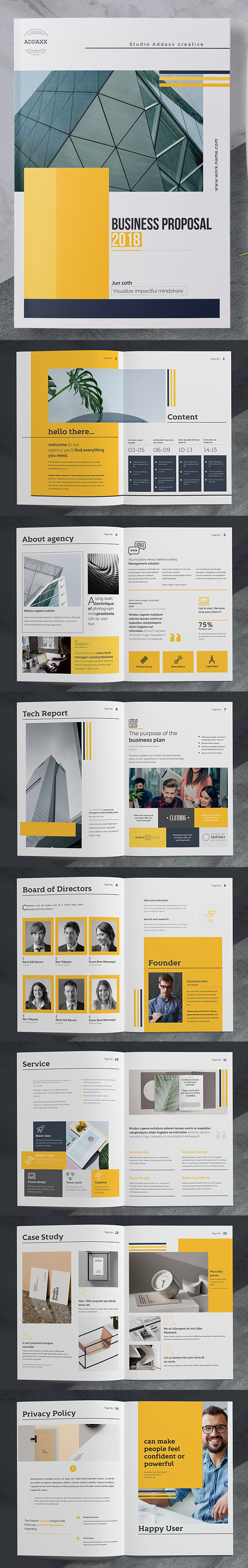 Clean Business Proposal Template