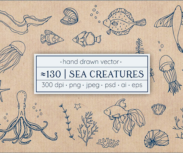 hand+drawn+sea+elements