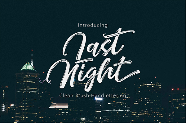 Beautiful Modern Clean Brush Handlettering Font