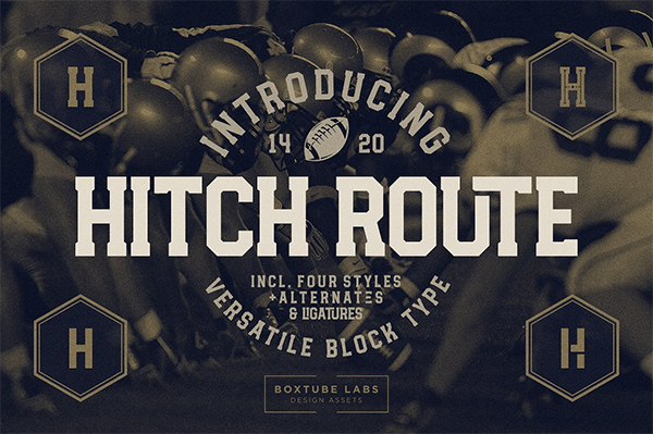 Hitch Route Font