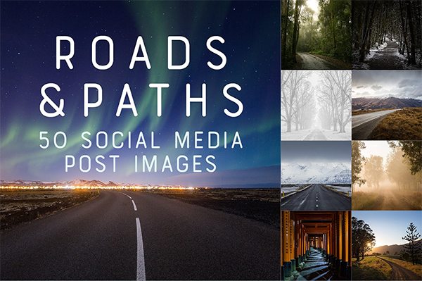 50 Social Media Backdrops - Roads