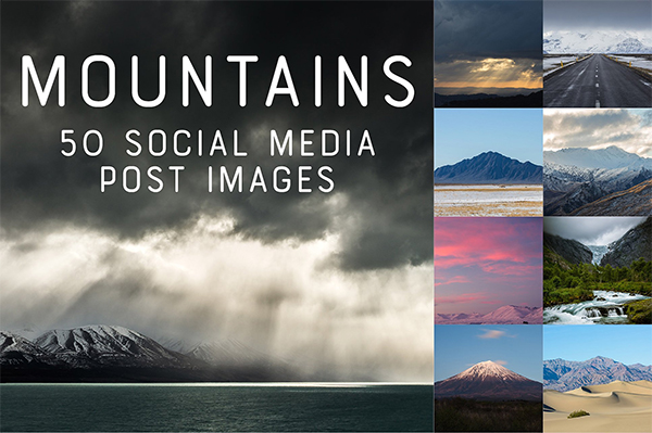 50 SocialMedia Backdrops - Mountains