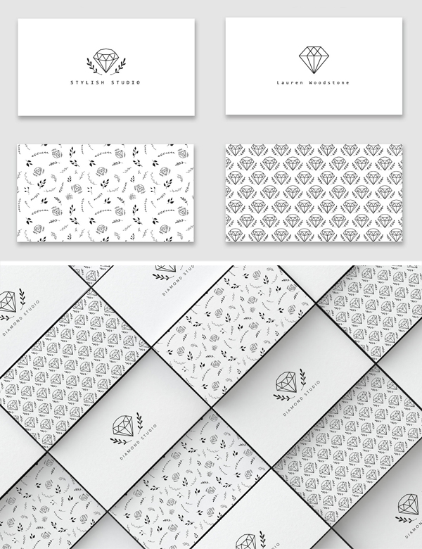 Diamonds Business Card templates